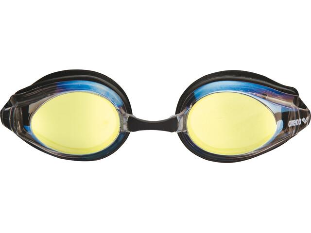 arena Tracks Mirror duikbrillen beige/zwart